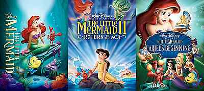 The Little Mermaid Complete Trilogy 1 2 3 DVD Disney Movies (Only 12$ - Sale)
