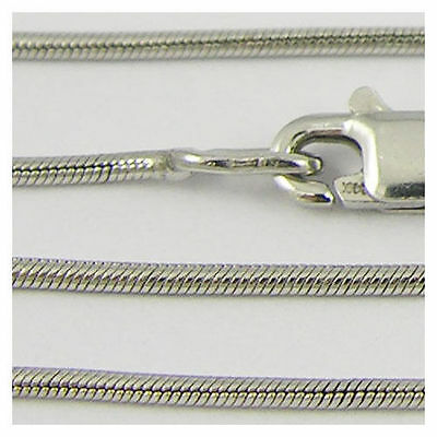 14k White Gold Chain Necklace, 16 inch (new solid ladys link snake 3.8g) - #71