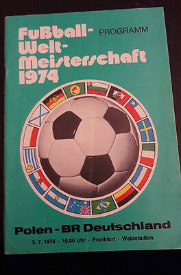 1974 World Cup Programme POLAND v WEST GERMANY (3 Jul '74) Very RARE
