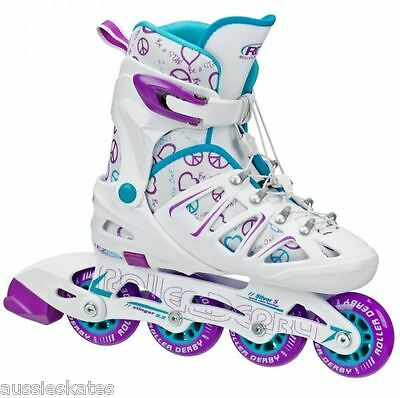 RDS Stinger 5.2 Girls Adjustable Inline Roller Skates Rollerblades US Size 2-5
