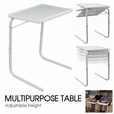 AU Foldable Table Laptop Adjustable Tray Bed Portable Desk TV Dinner Mate Office