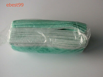 50 pcs  3-Ply Ear Loop Disposable Surgical  Flu  Mask non-woven green mask