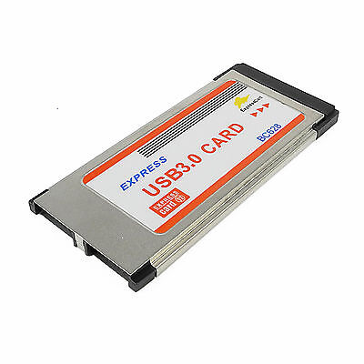 BC628 PC Express 34mm Card USB 3.0 2 Ports Adapter For Notebook Laptop PC Win 10
