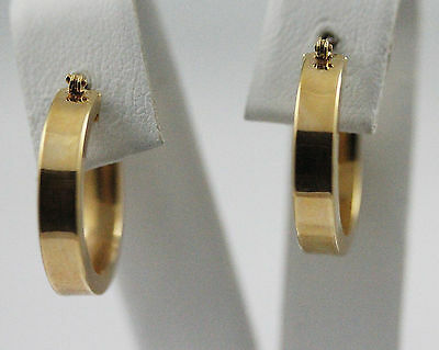 14k Yellow Gold Square Hoop Earrings,3.23gr (new)#1070