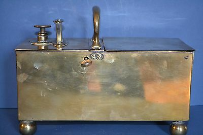 Rare 19th Century George III Brass Tavern Honesty Tobacco Box By Rich,c 1800