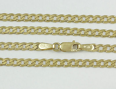 """16-24"""" 2.9mm 10k Yellow Gold Open Link Chain, (NEW solid Italian necklace) 2372"""