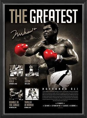 Muhammad Ali Signed The Greatest Boxing Limited Edition Print Frame + COA