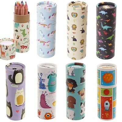 12 Pencils For Your Adult Colouring Book - Tube Case Set Design Mindful Travel