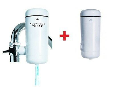 "AQUAPHOR ""Topaz"" Faucet Tap Water Filter +  Replacement Cartridge"