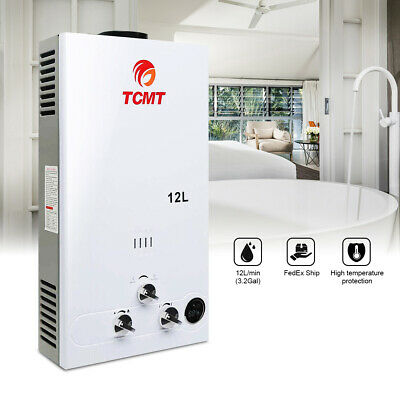 Gas Tankless Water Heater 3.2 GPM 12L Propane Gas (LPG) - Digital Display