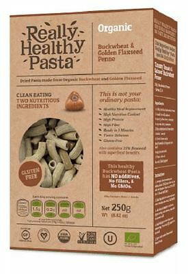 Really Healthy Pasta Organic Buckwheat & Golden Flaxseed Penne 250g