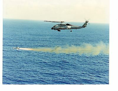 Sikorsky SH60B Seahawk HSL44 Navy Helicopter Photograph 8x10 Fired Missile