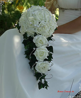 escl. Bridal Bouquet di rose vaniglia-crema-colorati, matrimonio, SPOSA