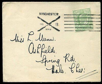 1906 South Eastern & Chatham Railway Uprated KEVII 1d Wrapper x2 ½d