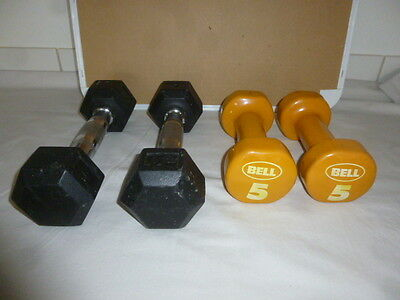 I FIT Dumbbell Set 4 + 5 lbs Pair WEIGHTS WEIGHTLIFTING CARDIO EXERCISE WALKING