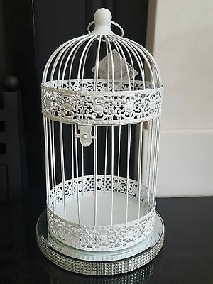 Package of 10 XL White Shabby Chic Birdcages Wedding Centre Piece Bird Cage