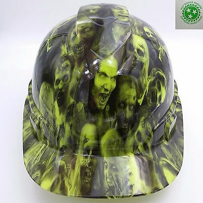 Hard Hat custom hydro dipped , OSHA approved WALKING DEAD LIME GREEN