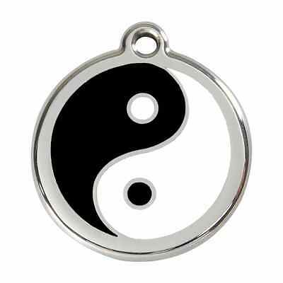 Ying Yang Feng Shui Animal Chien Chat Médaille Personnalisable Gravée Inox