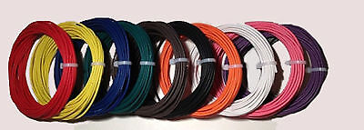 New 14 AWG Guage 600 VOLT THHN STRANDED COPPER WIRE 10 COLORS 25 FT EACH 250'