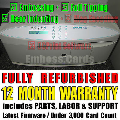Datacard 150i Card Embosser | Foil Topper | Rear Indenter | 1 YEAR WARRANTY