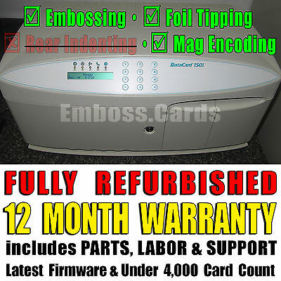 Datacard 150i ID Credit Card Embosser | Foil Topper | Magnetic Encoder +WARRANTY
