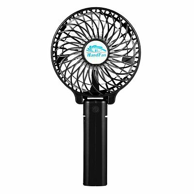 EasyAcc Handheld Foldable USB Fan for Home & Travel, Rechargeable 18650 Battery