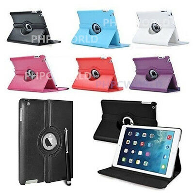 Smart 360 Degree Rotating Leather Stand Case Cover For iPad AIR 1st /2nd Gen