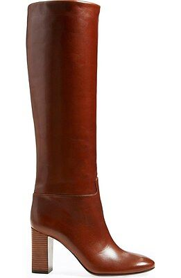 2721b846749  695 New TORY BURCH Devon Carmelite caramel Brown leather knee high boots 10