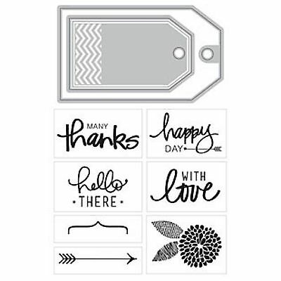 MOMENTA ART C cutting dies & clear cling stamps LOVE HELLO THANKS card making