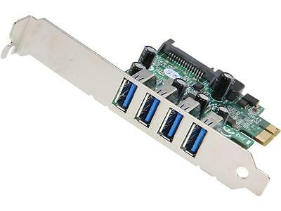 StarTech 4 Port PCI Express PCIe SuperSpeed USB 3.0 Controller Card Adapter with