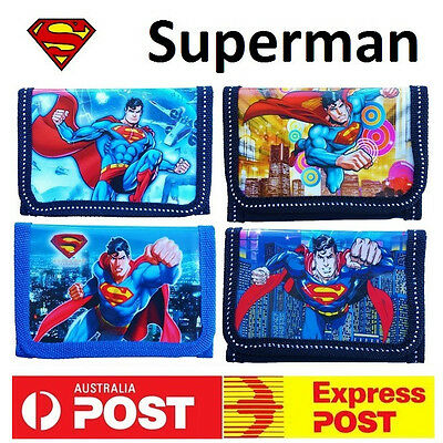 New Superman Wallet Purse Super Hero Boys Girls Kids Party Superhero Favor