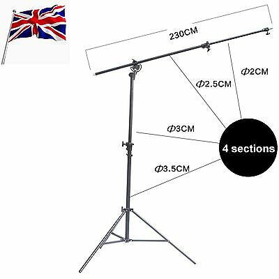 Air Cushioned Overhead Boom Arm Bar Top Light Stand for DSLR Photo Flash Softbox