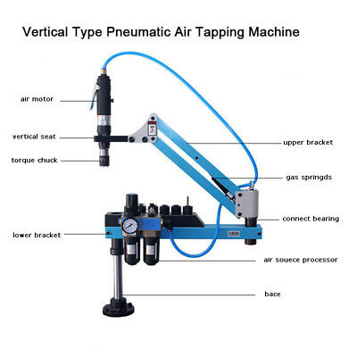 Newest Vertical Type Pneumatic Air Tapping Machine M3-M12 1000mm Best Price
