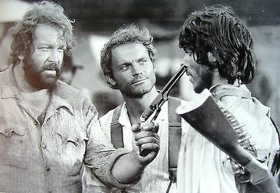 STAMPA SU TELA CANVAS BUD SPENCER TERENCE HILL EMILIANO 70x50 DESIGN