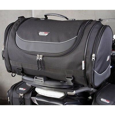 MotoDry NEW Black Roll Bag Adventure Motorcycle Luggage ZXR-1 Rear Tail Bag