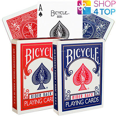2 Decks Bicycle Rider 808 Retro Standard Index Playing Cards 1 Red 1 Blue Usa