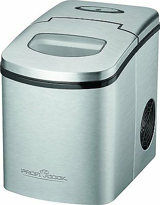 Profi Cook PC-EWB 1079 Ice Cube Maker Stainless Steel 150W Low Noise Genuine NEW