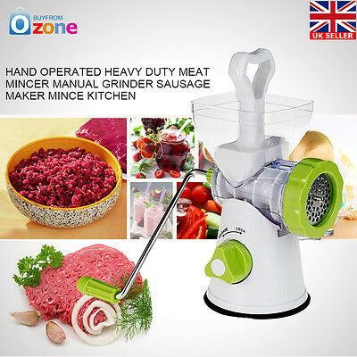 Kitchen Hand Operated Heavy Duty Meat Mincer Manual Grinder Sausage Maker Mince