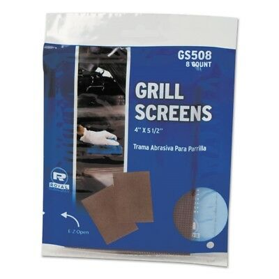 Royal Griddle-Grill Screen, Aluminum Oxide, Brown, 4 in x 5-1/2 in, 8 per Pack