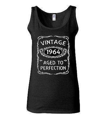540278e3bdd1b0 Vintage 1964 WOMEN TANK TOP Aged To Perfection 51st Birthday Gift Funny  TankTOP