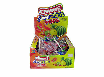 CHARMED SWEET SOUR LOLLY LOLLIPOPS From USA  - Individually Wrapped