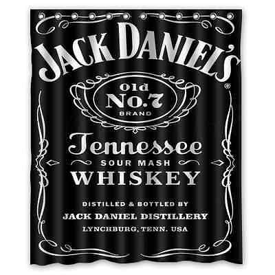 New Customize Design Custom Jack Daniels Waterproof Fabric Shower Curtain 60x72
