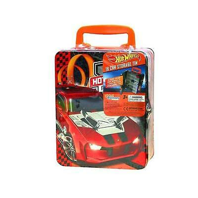 Hotwheels Hot Wheels 18 Cars Storage Tin Red Boys Kids Toy Box BY MATTEL