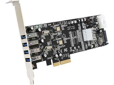 StarTech PEXUSB3S42V 4 Port Dual Bus PCI Express (PCIe) SuperSpeed USB 3.0 Card