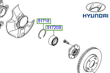 Genuine Hyundai Sonata Front Wheel Bearing - 5172038110