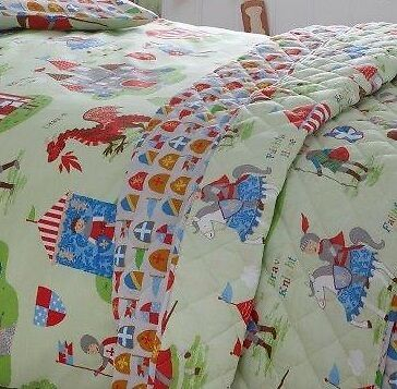 Knights & Dragons Quilted Bedspread/Throw