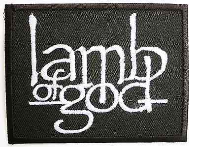 LAMB OF GOD Heavy Metal Embroidered Iron On Sew On Shirt Bag Badge Patch