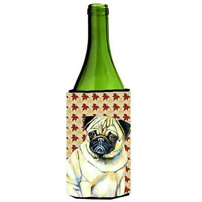 Carolines Treasures Pug Fall Leaves Portrait Wine Bottle Hugger 24 oz.