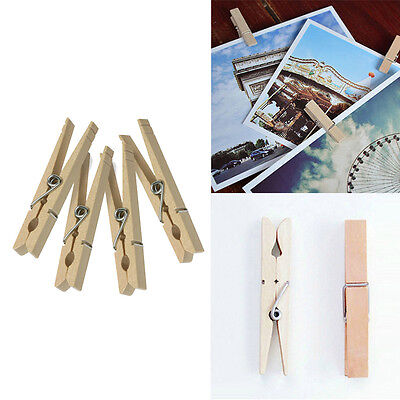 Practical Traditional New Clothes Pins Wooden Clip Spring Clothespins