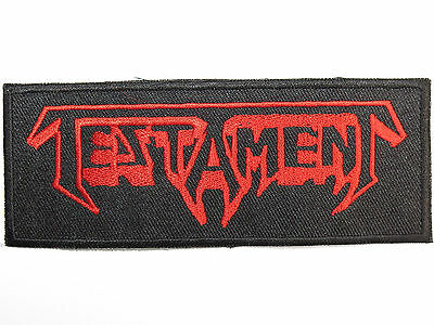 """TESTAMENT Thrash Metal Embroidered Iron On Sew On Jacket Patch 4.6"""""""